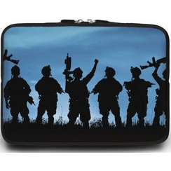 Universele Laptop Sleeve - 15.6 inch - Soldaten