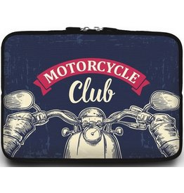 Case2go Universele Laptop Sleeve - 10.2 inch - Motorcycle Club