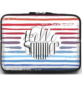 Case2go Universele Laptop Sleeve - 10.2 inch - Hello Summer
