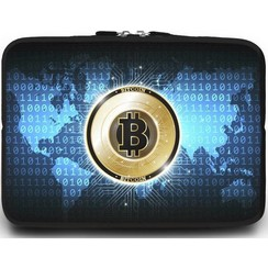 Universele Laptop Sleeve - 10.2 inch - Bitcoin