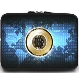 Case2go Universele Laptop Sleeve - 10.2 inch - Bitcoin
