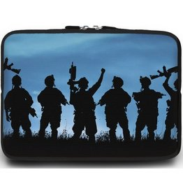 Cover2day Universele Laptop Sleeve - 10.2 inch - Soldaten