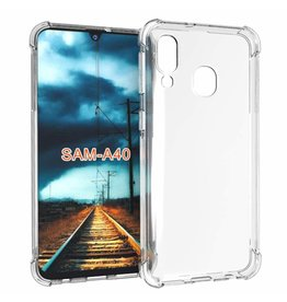 Atouchbo Samsung Galaxy A80 hoes - Anti-Shock TPU Back Cover - Transparant
