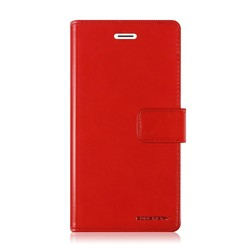 Samsung Galaxy M10 hoes - Blue Moon Diary Wallet Case - Rood