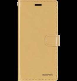 Mercury Goospery Samsung Galaxy M10 hoes - Blue Moon Diary Wallet Case - Goud