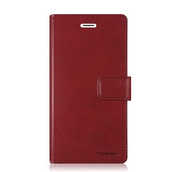 Samsung Galaxy M10 hoes - Blue Moon Diary Wallet Case - Donker Rood