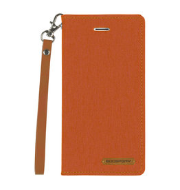 Mercury Goospery iPhone Xs Max hoes - Mercury Canvas Flip Wallet Case - Oranje