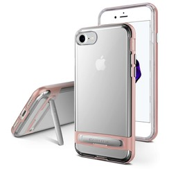 iPhone XR bumper - Goospery Dream Stand Bumper Case - Rosé Goud
