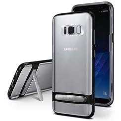 Samsung Galaxy A8 Plus (2018) bumper - Goospery Dream Stand Bumper Case - Zwart