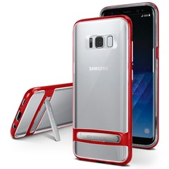Samsung Galaxy A8 (2018) bumper - Goospery Dream Stand Bumper Case - Rood