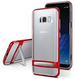 Goospery Samsung Galaxy A8 (2018) bumper - Goospery Dream Stand Bumper Case - Rood