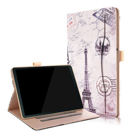 Serise Samsung Galaxy Tab S4 hoes - Wallet Book Case - Eiffeltoren