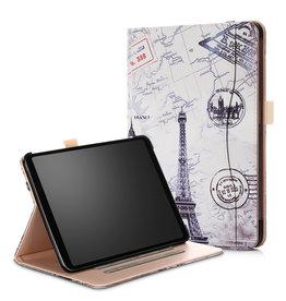 Serise iPad Pro 11 hoes - Wallet Book Case - Eiffeltoren