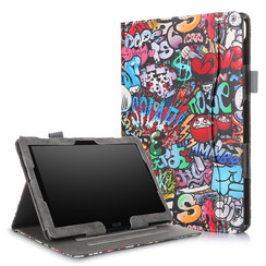 Lenovo Tab P10 hoes - Wallet Book Case - Graffiti