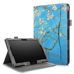 Lenovo Tab P10 / M10 hoes - Wallet Book Case - Witte Bloesem
