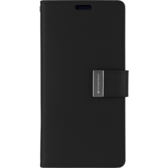 iPhone XR Wallet Case - Goospery Rich Diary - Zwart