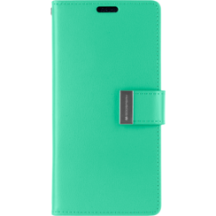 iPhone XR Wallet Case - Goospery Rich Diary - Turqouise