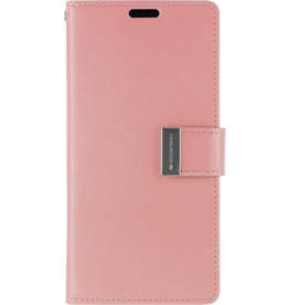 Mercury Goospery iPhone XR Wallet Case - Goospery Rich Diary - Roze