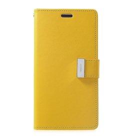 Mercury Goospery iPhone XR Wallet Case - Goospery Rich Diary - Geel