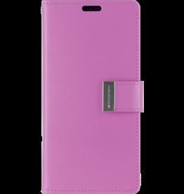 Mercury Goospery iPhone XR Wallet Case - Goospery Rich Diary - Paars