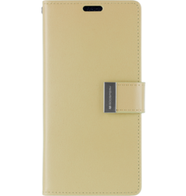 Mercury Goospery iPhone XR Wallet Case - Goospery Rich Diary - Goud