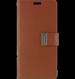 Mercury Goospery iPhone XR Wallet Case - Goospery Rich Diary - Bruin