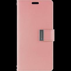 iPhone X/Xs Wallet Case - Goospery Rich Diary - Roze
