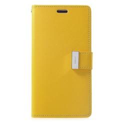 iPhone X/Xs Wallet Case - Goospery Rich Diary - Geel