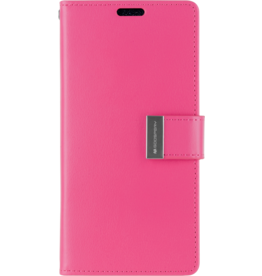Mercury Goospery iPhone X/Xs Wallet Case - Goospery Rich Diary - Magenta