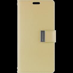 iPhone X/Xs Wallet Case - Goospery Rich Diary - Goud
