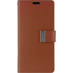 iPhone X/Xs Wallet Case - Goospery Rich Diary - Bruin