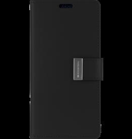 Mercury Goospery iPhone XS Max Wallet Case - Goospery Rich Diary - Zwart