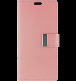 Mercury Goospery iPhone XS Max Wallet Case - Goospery Rich Diary - Roze