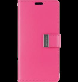 Mercury Goospery iPhone XS Max Wallet Case - Goospery Rich Diary - Magenta