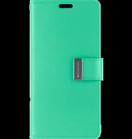 Mercury Goospery iPhone XS Max Wallet Case - Goospery Rich Diary - Turqouise