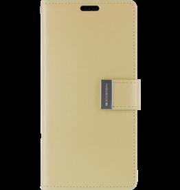 Mercury Goospery Samsung Galaxy S10 Plus Wallet Case - Goospery Rich Diary - Goud