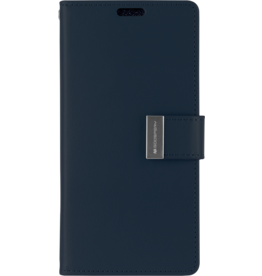 Mercury Goospery Samsung Galaxy S10 Plus Wallet Case - Goospery Rich Diary - Donker Blauw