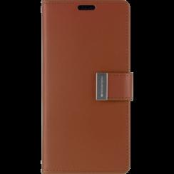 Samsung Galaxy S10 Plus Wallet Case - Goospery Rich Diary - Bruin