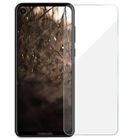 Case2go Motorola One Vision - Tempered Glass Screenprotector - 2.5D