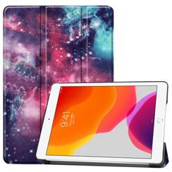 iPad 10.2 inch (2019) hoes - Tri-Fold Book Case - Galaxy