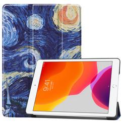 iPad 10.2 inch (2019) hoes - Tri-Fold Book Case - Sterrenhemel