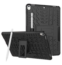 Case2go iPad Air 10.5 hoes (2019) - Schokbestendige Back Cover - Zwart