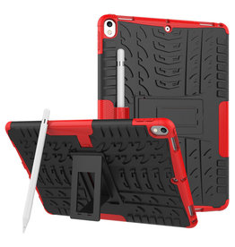 Case2go iPad Air 10.5 hoes (2019) - Schokbestendige Back Cover - Rood
