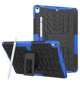 Case2go iPad Air 10.5 hoes (2019) - Schokbestendige Back Cover - Blauw