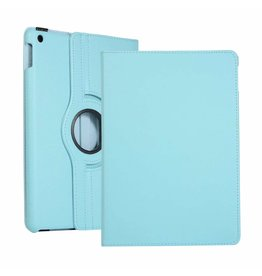 Serise iPad 10.2 (2019) Hoes - Draaibare Book Case Cover - Licht Blauw