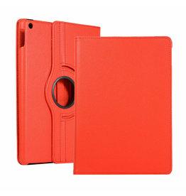 Serise iPad 10.2 (2019) Hoes - Draaibare Book Case Cover - Rood
