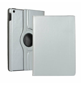 Serise iPad 10.2 (2019) Hoes - Draaibare Book Case Cover - Zilver