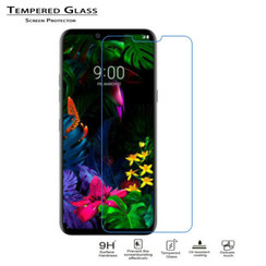 LG G8 ThinQ - Tempered Glass Screenprotector - Case-Friendly