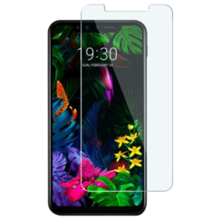 LG G8s ThinQ - Tempered Glass Screenprotector - Case-Friendly