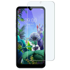 LG Q60 - Tempered Glass Screenprotector - Case-Friendly